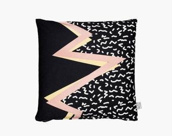 memphis black pillow