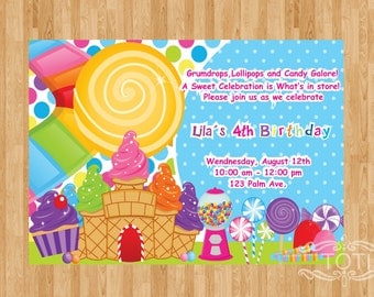 Candyland | Invitation [DIGITAL FILE ONLY]