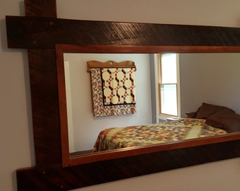 Reclaimed Cherry Fence Mirror