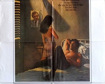 Beyond the Limit. Original U.S. 1983 27 x 41 Theater Movie Poster. Free Shipping. Richard Amsel Art. Michael Caine Richard Gere Romance.