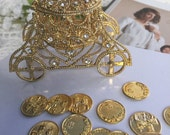 Arras wedding coins, coins wedding arras,  arras coins, Arras para Boda, Gold wedding coins Arras and cage, gold  tone wedding cage