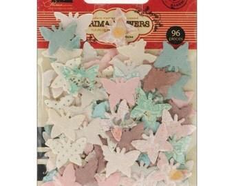 "Prima Marketing Paper Butterfly ""Flutterbits"" - 96 Piece - #555511"