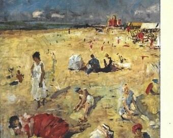 Vintage Unused Italian Postcard Gola Beach in the Sun Milano 1258