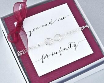 Infinity Bracelet - Silver Bracelet - Infinity Charm Bracelet - Friendship Bracelet - Infinity Jewelry - Friendship Jewelry - Promise