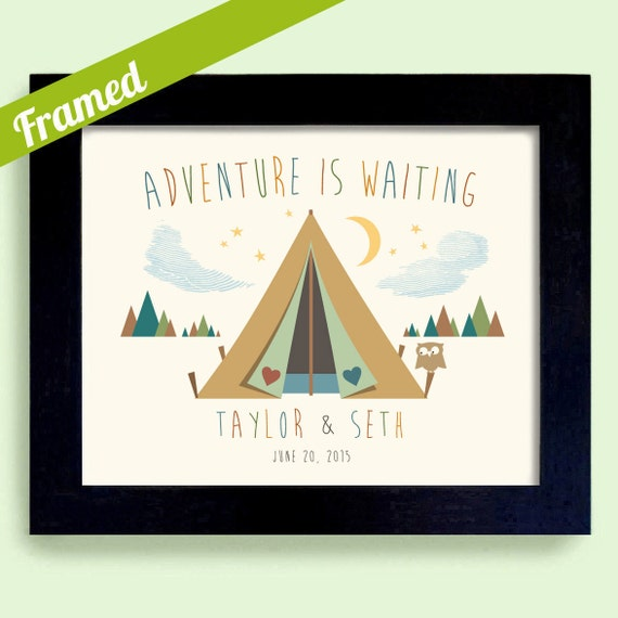 Adventure is Waiting Wedding Gift Outdoor Lovers Unique Couples Gift ...