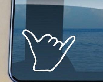 Shaka Hand Howzit Decal Hawaiian Greeting Sticker