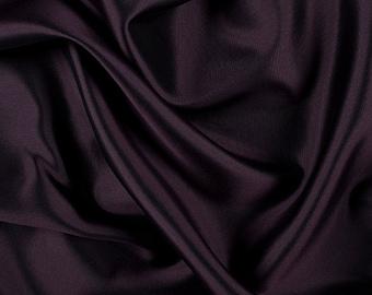 "58"" Wide Silk Wool Blend Gabardine Aubergine Purple by the yard"