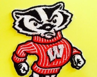 "Wisconsin Badgers ""Bucky"" Embroidered Iron-on Patch"