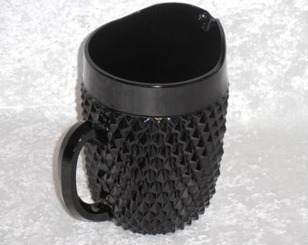 Tiara Black Cameo Diamond Point 64oz Pitcher
