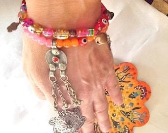 SALE- BELLY DANCE bracelet -gypsy bracelet -Bohemian bracelet -kuchi bracelet
