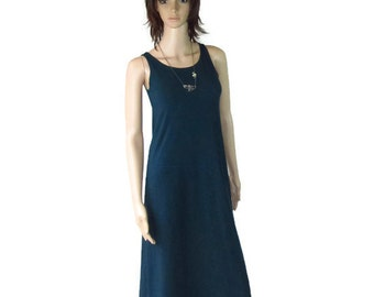 Bamboo /Organic Cotton Tank Dress-Sheath Dress- A-line-Hand Dyed-Choice of Color - Ethical Fashion-Make to Measurements Offered-XXS to Large