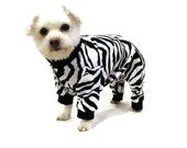 Dog Pajamas Dog Clothes Black and White Zebra Cotton Knit Dog Pajamas pet clothing dog clothing pet clothes dog apparel dog clothes