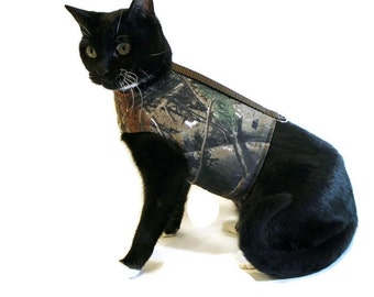 Camouflage Reversible Cat Harness - Cat Clothes - Cat Harnesses - Cat Clothing - Clothes for Cats-Harnesses for Cats - Cat Jacket - Cat Coat