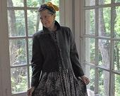 Pendleton Women's Crop Wool Blazer/Vintage Charcoal Gray Jacket/Preppy Retro Classic/Size Medium or Small