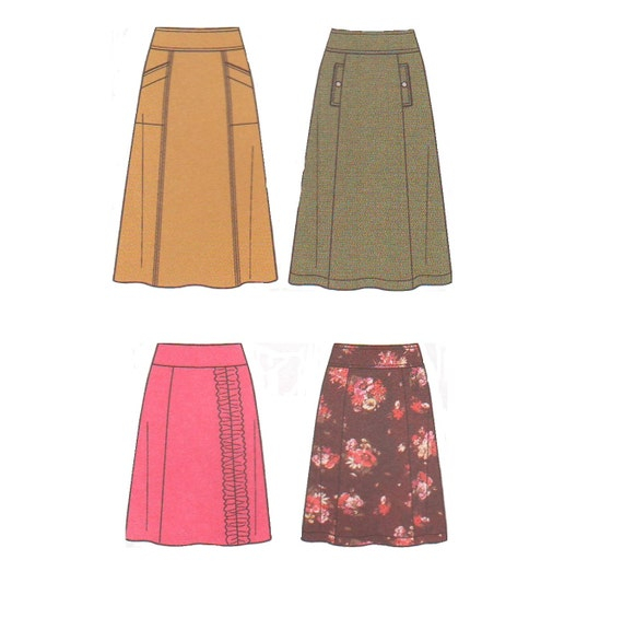 simplicity 2152 2010s sewing pattern skirt a line pockets