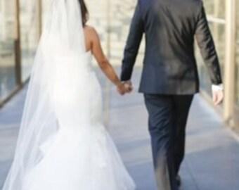 Cathedral length wedding veil,  bridal veil,  ivory, white, diamond white