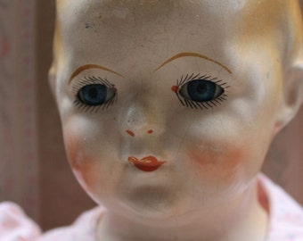 """15"""" Restored Signed Antique 1930's Ideal Doll with Tin Eyes"""