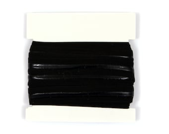5/8th inch Silicone Backed Fold Over Elastic for no slip headbands- 5 or 10 yards -  Black
