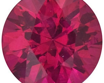 0.3 Ct Natural Red Ruby Gemstone Diamond Cut Round Size 4 mm