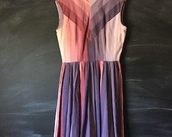 Vintage 50's Chevron Mod party dress