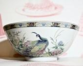 Stunning Vintage Bowl With Peacocks