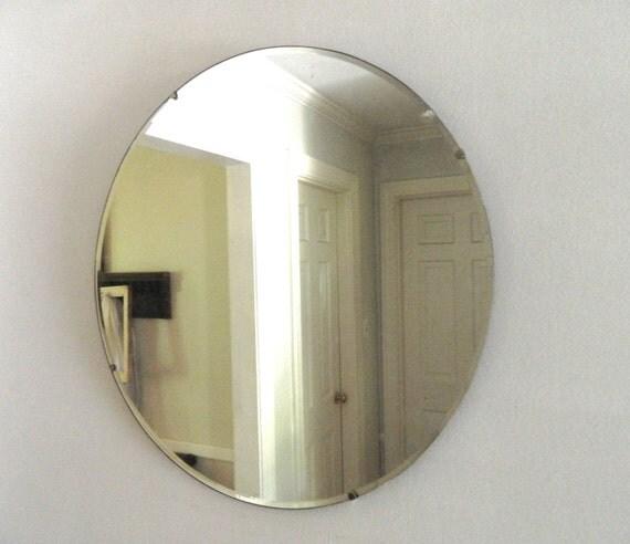 Round Frameless Mirror Large