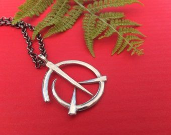 PEACE necklace with a twist .  Free shipping!