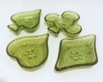 Indiana Tiara Green Glass Playing Cards Tray