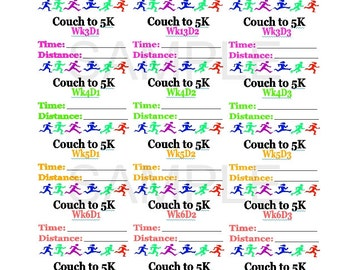 Fitness tracker stickers Printable. Fitbit tracker Fitness