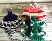 Childrens Vinatge Knit Hats, Lot of Winter Hats, Hand Knitted Hats, Destash Lot of Hats, Kids Hats, Handmade Vinatge Hats, Vids Vintage SALE