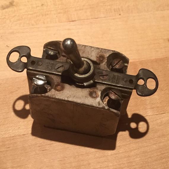 Vintage Industrial Light Switch: Vintage Toggle Light Switch UND LABS Industrial