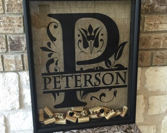 16x20 personalized split letter cork holder