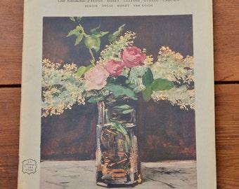 1953 Flower Painting Book - Renoir, Cezanne, Van Gogh