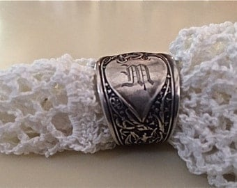 Vintage Sterling Silver Spoon Ring size 8.5