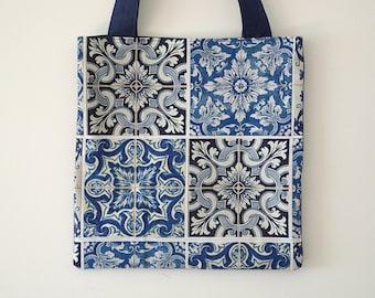 Azulejo Portuguese Tiles Handmade Tote Bag