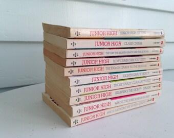 Vintage Young Adult Novel Set, Junior High by Kate Kenyon, 10 Book Novel Set, Instant Collection, 1980a YA Novels