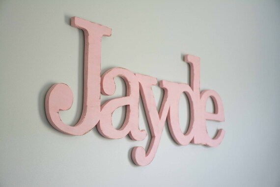 Extra Large Baby name, above crib, over the crib, large wooden name sign