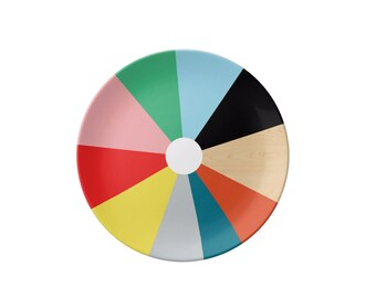 Melamine Plate - Pinwheel