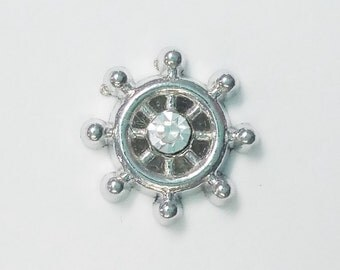 1 PC - Helm Ship Nautical Silver Charm for Floating Locket Jewelry F0154