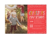 INSTANT DOWNLOAD - Christmas Mini Session template - Photoshop template - E1152