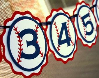 Baseball Photo Banner . First Birthday Photo Banner . 1st Birthday Baseball Party Banner . Baseball Party Decor . Baseball Decorations