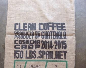 Burlap/Jute Coffee Sack, Bag (Guatemala)