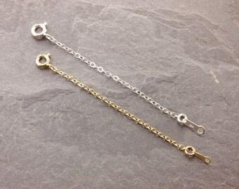 """Necklace Extender, 1"""", 2"""", 3"""", 4"""", 5"""", chain extender, sterling silver, gold filled, silver necklace, gold necklace, chain adjuster"""