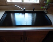 Black Sink Cover Kitchen Space Saver Counter Top Tray Bath Cover Black Tray Wood Laundry Washer Dryer Cover Stove Top Cover