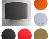Retro 30cm Lampshade LightShade Various Colours Red White Gray Orange Blue Black Yellow Europrean or US Fitting
