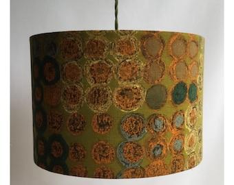 35cm Vintage Fabric Lampshade Lightshade 50s 60s  Mid Century Atomic Eames Era