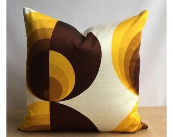 Cushion Cover Vintage Retro 60s 70s Fabric 20 x 20
