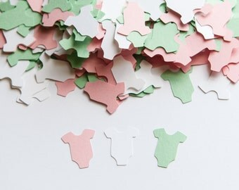 OnePiece Confetti - Baby Shower - Light Pink and Mint Baby Shower Decorations, Baby Shower Confetti