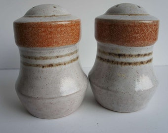 Vintage 1970s Pottery Craft Salt and Pepper Shakers