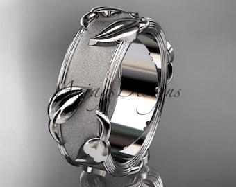 Platinum  leaf and vine  wedding ring, engagement ring ADLR252